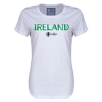 Ireland Euro 2016 Core Womens T-Shirt (White)