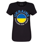 Ukraine Euro 2016 Core Womens T-Shirt (Black)