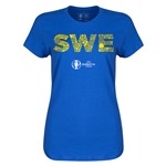 Sweden Euro 2016 Elements Womens T-Shirt (Royal)