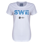 Sweden Euro 2016 Elements Womens T-Shirt (White)