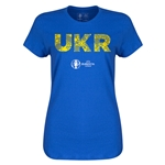 Ukraine Euro 2016 Elements Womens T-Shirt (Royal)