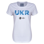 Ukraine Euro 2016 Elements Womens T-Shirt (White)