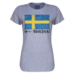 Sweden Euro 2016 Core Womens T-Shirt (Grey)