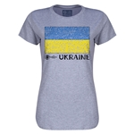 Ukraine Euro 2016 Core Womens T-Shirt (Grey)