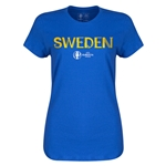 Sweden Euro 2016 Core Womens T-Shirt (Royal)