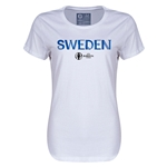 Sweden Euro 2016 Core Womens T-Shirt (White)