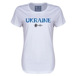 Ukraine Euro 2016 Core Womens T-Shirt (White)