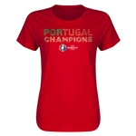 Portugal UEFA Euro 2016 Champions Women's T-Shirt (Red)