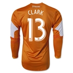 Houston Dynamo 2014 CLARK LS Authentic Primary Soccer Jersey
