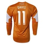 Houston Dynamo 2014 DAVIS LS Authentic Primary Soccer Jersey