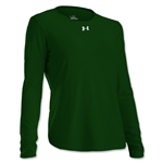 Under Armour Women's Locker Long Sleeve T-Shirt (Dark Green)
