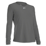 Under Armour Women's Locker Long Sleeve T-Shirt (Dk Gray)