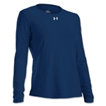 Under Armour Women's Locker Long Sleeve T-Shirt (Navy)