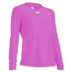 Under Armour Women's Locker Long Sleeve T-Shirt (Pink)