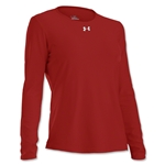 Under Armour Women's Locker Long Sleeve T-Shirt (Red)