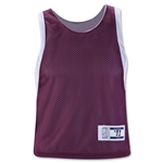 Warrior Two Tone Reversible Youth Lacrosse Training Jersey (Maroon/Wht)