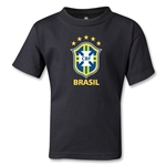 Brazil Kids T-Shirt (Black)