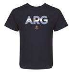 Argentina Copa America 2016 Flag Letter Kids T-Shirt (Navy)
