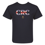 Costa Rica Copa America 2016 Flag Letter Kids T-Shirt (Navy)