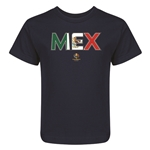 Mexico Copa America 2016 Flag Letter Kids T-Shirt (Navy)