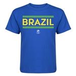 Brazil Copa America 2016 Kids Country T-Shirt (Royal)