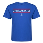 USA Copa America 2016 Kids Country T-Shirt (Royal)