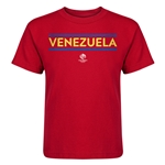 Venezuela Copa America 2016 Kids Country T-Shirt (Red)