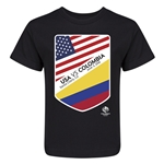 USA vs Colombia Copa America 2016 Kids Matchup T-Shirt (Black)