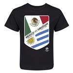 Mexico vs Uruguay Copa America 2016 Kids Matchup T-Shirt (Black)