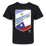 Argentina vs Chile Copa America 2016 Kids Matchup T-Shirt (Black)