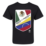 Mexico vs Venezuela Copa America 2016 Kids Matchup T-Shirt (Black)