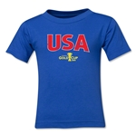 USA CONCACAF Gold Cup 2015 Kids Big Logo T-Shirt (Royal)