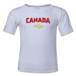 Canada CONCACAF Gold Cup 2015 Kids Big Logo T-Shirt (White)