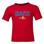 Haiti CONCACAF Gold Cup 2015 Kids Big Logo T-Shirt (Red)