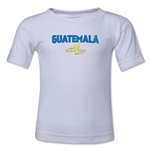 Guatemala CONCACAF Gold Cup 2015 Kids Big Logo T-Shirt (White)