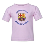 Barcelona Futbol Club Distressed Kids T-Shirt (Pink)