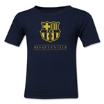 Barcelona Mes Que Un Club Kids T-Shirt (Navy)