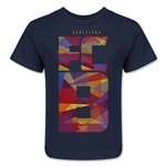 Barcelona Fractal Kids T-Shirt (Navy)