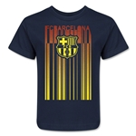 Barcelona Linear Graphic Kids T-Shirt (Navy)
