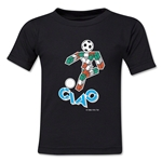 1990 FIFA World Cup Ciao Mascot Kids T-Shirt (Black)