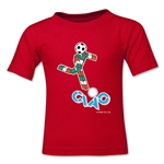 1990 FIFA World Cup Ciao Mascot Kids T-Shirt (Red)