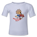 1966 FIFA World Cup Willie Mascot Logo Kids T-Shirt (White)