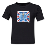 1966 FIFA World Cup England Emblem Kids T-Shirt (Black)