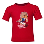 1966 FIFA World Cup Willie Kids Mascot Logo T-Shirt (Red)