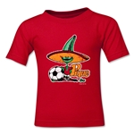 1986 FIFA World Cup Pique Kids Mascot Logo T-Shirt (Red)