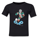 1990 FIFA World Cup Ciao Kids Mascot Logo T-Shirt (Black)