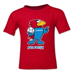 1998 FIFA World Cup Footix Kids Mascot Logo T-Shirt (Red)