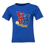 2002 FIFA World Cup Kaz & Nik Kids Mascot Logo T-Shirt (Royal)