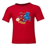 2002 FIFA World Cup Kaz & Nik Kids Mascot Logo T-Shirt (Red)