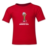 FIFA Club World Cup Morocco 2013 Kids Official Emblem T-Shirt (Red)
